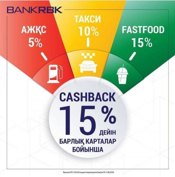 CASH BACK от RBK BANK, Bank RBK, АО, филиал в г. Актобе, Актобе