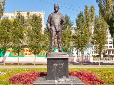 Памятник М. А. Шолохову установлен к 95-летию со дня рождения писателя,Памятник, скульптура,Ростов-на-Дону