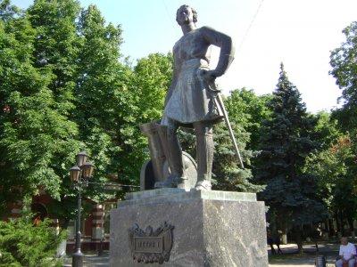 Пётр I,Памятник, скульптура,Азов