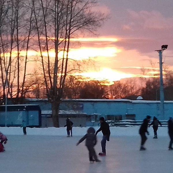 Каток на стадионе «Металлург»,Каток,Красноярск