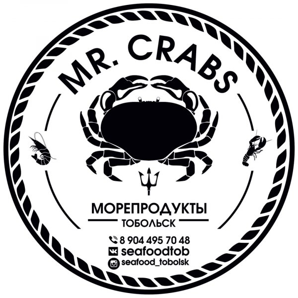 Mr. Crabs МОРЕПРОДУКТЫ Тобольск,Доставка морепродуктов,Тобольск