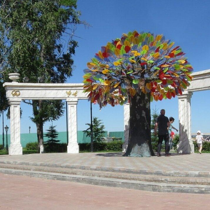 Скульптурная композиция Дерево счастья,Памятник, скульптура,Тюмень