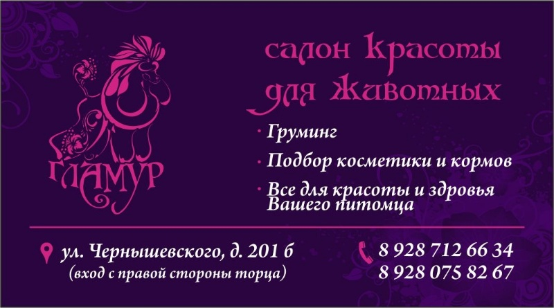 'ГЛАМУР',Салон красоты для животных,Нальчик