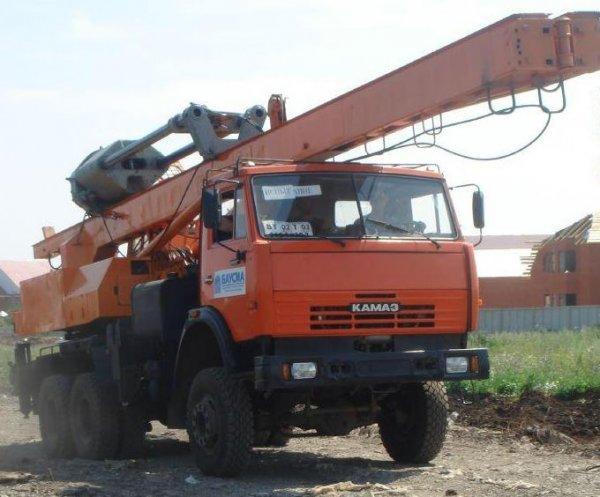 Услуги сваебоя,Аренда автобуровой,Красноярск