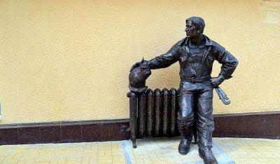 Скульптура Сантехник с котом,Памятник, скульптура,Ростов-на-Дону