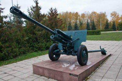 Пушка ЗиС-3, Памятник, скульптура,  Октябрьский