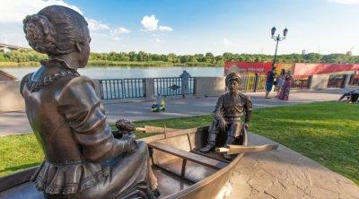 Памятник Скульптурная композиция «Григорий и Аксинья в лодке» ,Памятник,Ростов-на-Дону
