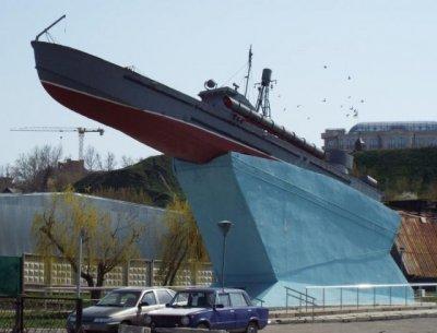 Памятник Азовской военной флотилии, Памятник, скульптура,  Азов