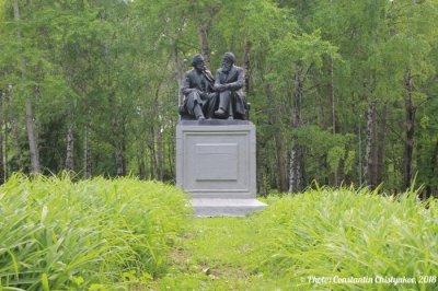 К. Маркс и Ф. Энгельс, Памятник, скульптура,  Октябрьский