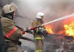 Пожар в хоз. постройке в Азовском районе