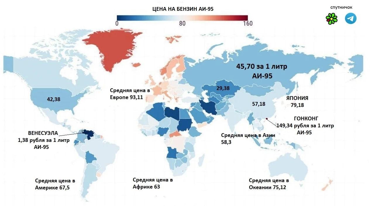 Любопытное: сколько стоит бензин в разных странах мира?