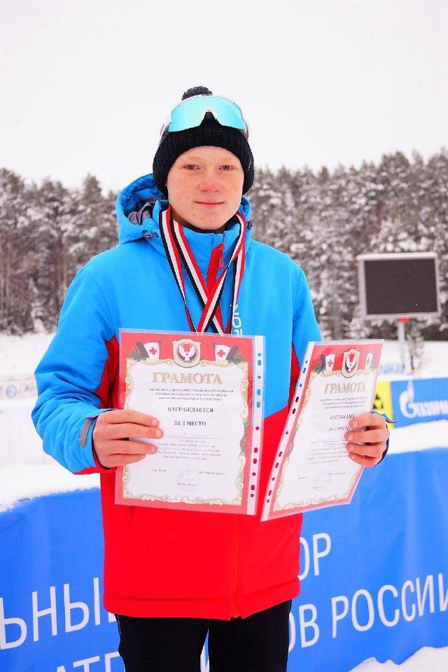 Можгинец победил в Республиканских соревнованиях по биатлону.