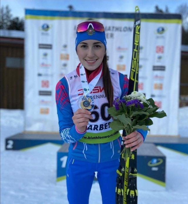 Можгинская биатлонистка одержала победу!