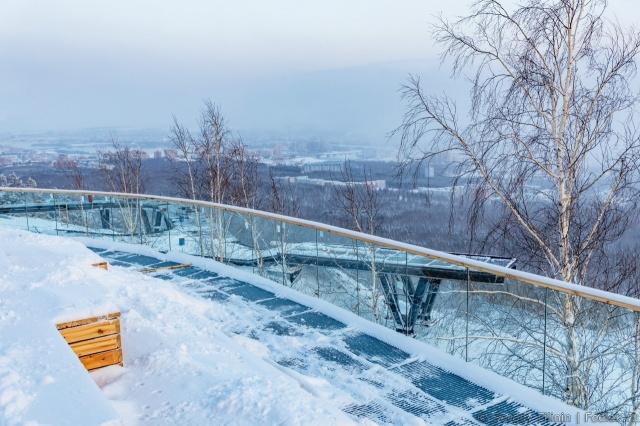 В Красноярске на Николаевской сопке завершили строительство площадки