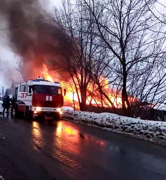 ЧП произошло в результате пожара в частном доме