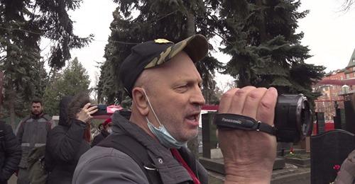 Говорит Ростов : Распоясавшиеся хулиган Сергей Рулёв сорвал экскурсию по Донскому кладбищу