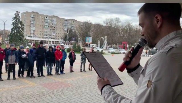 В Азове , 10 апреля , прошла молодёжная развлекательная программа посвящённая ЗОЖ