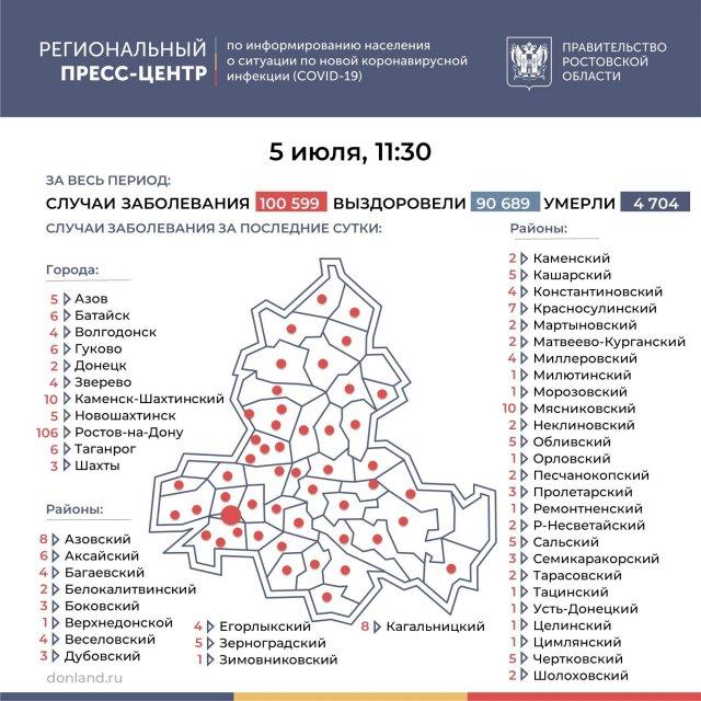 Число подтверждённых инфицированных коронавирусом увеличилось в Азове и Азовском районе на 13