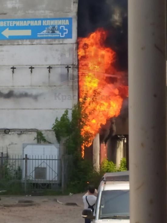 Из загоревшегося склада на ул. Высотная в Красноярске спасли 25 человек