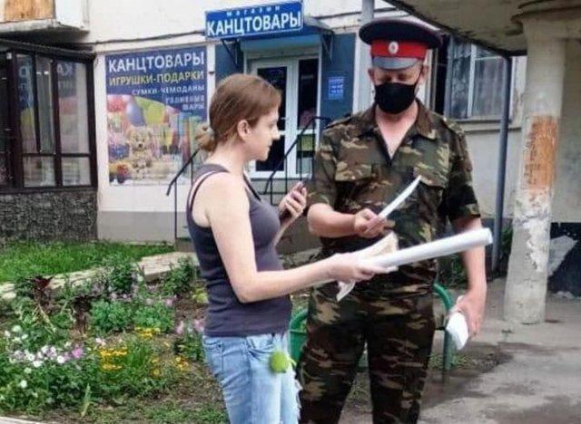 В Ростовской области казаки устроили агитационный рейд против коррупции