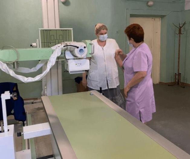 Новый рентгеновский аппарат за 10 млн рублей установили в Азовской центральной районной больнице.