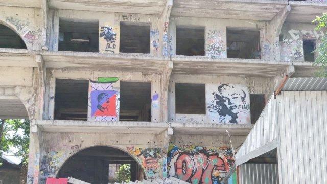 В центре Ростова  появилось граффити товарища Сталина