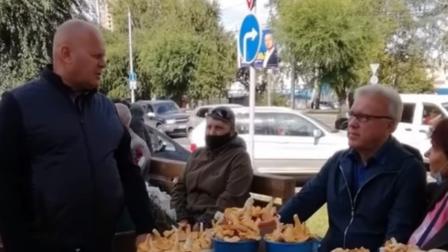 Губернатор Красноярского края проверил рынок на ГорДК