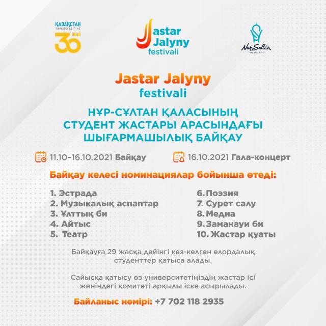 В столице запустили конкурс молодежного творчества «Жастар жалыны-2021»