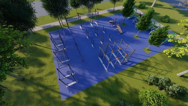 В Азове появится современный спортивный комплекс около нового сквера по ул. Инзенской