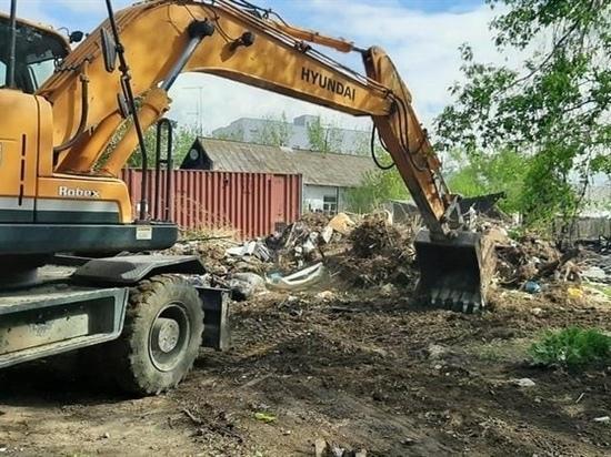 Около 30 несанкционированных свалок убрали в одном из районов Красноярска с начала этого года